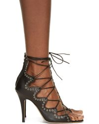 Isabel Marant - Black Leather Lelie Ghillies Gladiator Sandals - Lyst