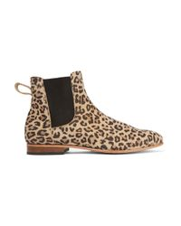Dieppa Restrepo Brown Troy Leopard-print Suede Ankle Boots