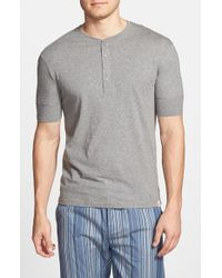 Paul Smith | Gray Short Sleeve Henley for Men | Lyst
