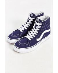 Vans | White Sk8-hi Canvas Sneaker for Men | Lyst