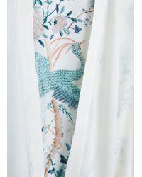 Mango White Flowy Printed Caftan