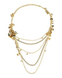 Elie Saab | Metallic Necklace | Lyst