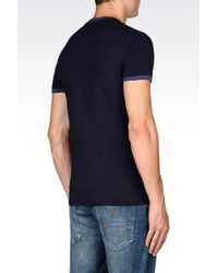 Armani Jeans | Blue Jersey T-shirt for Men | Lyst