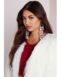 Missguided - Metallic Layered Statement Earrings - Lyst