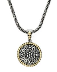 Effy | Metallic Balissima 18 Kt. Yellow Gold And Sterling Silver Pendant | Lyst