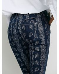 Free People Blue Silver City Foiled Flare