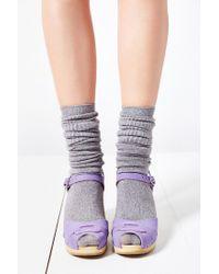 Swedish Hasbeens Purple Peep-Toe Super High Sandal