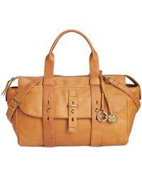 Lucky Brand Brown Medine Leather Crossbody Satchel