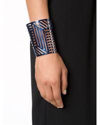 Pierre Hardy   Blue Grid Cuff   Lyst