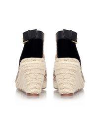 KG by Kurt Geiger Multicolor Nelly Mid Heel Espadrille Wedge Sandals