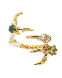 Tessa Metcalfe | Metallic Grasp Claws With Emerald And Peridot | Lyst
