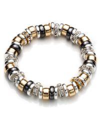 Nine West | Metallic Tri Tone Rondelle Bracelet | Lyst