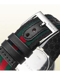 Gucci - Green U-play Collection Medium Signature Web Watch - Lyst