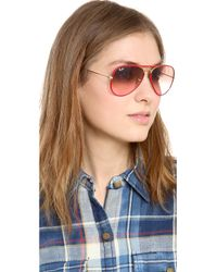 Ray-Ban Acetate Covered Aviator Sunglasses - Red