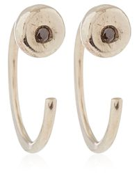 Melissa Joy Manning | White Gold Black Diamond Hug Earrings | Lyst