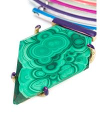 Gemma Redux | Green Malachite Pendant Necklace | Lyst