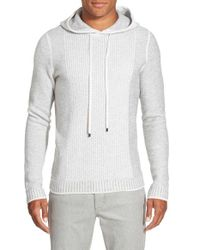 VINCE | Gray Trim Fit Wool & Cashmere Knit Hoodie for Men | Lyst