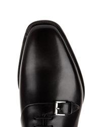 Christian Louboutin Black Capri Leather Derby Shoes for men