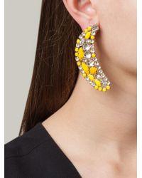 Shourouk Yellow Banana Clip-On Earrings
