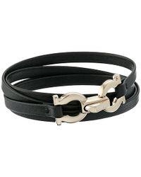 Ferragamo | Black 344673 Gancini Bracelet | Lyst