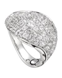 John Hardy | Metallic Kali Silver Lava Ring with White Sapphire | Lyst