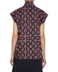 Vivienne Westwood Anglomania - Multicolor Band Printed Cotton-blend Shirt - Lyst
