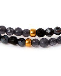 Tai Black Multi-strand Hematite Beaded Bracelet