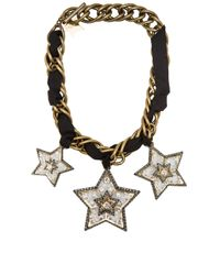 Lanvin - Metallic Altair Star Necklace - Lyst