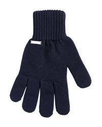 DSquared² - Blue Ribbed Wool Beanie Hat & Gloves Set for Men - Lyst