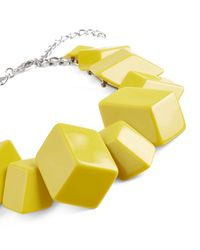 Jaeger - Green Flat Cube Cluster Necklace - Lyst