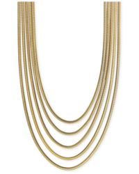 Vince Camuto Metallic Multi-layer Snake Link Chain Necklace