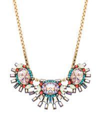 Elizabeth Cole Elliptical Necklace in Metallic Gold