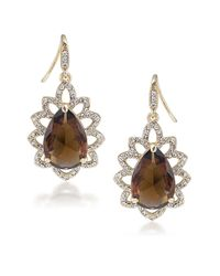 Carolee | Metallic Desert Oasis Goldtone Encrusted Drop Earrings | Lyst