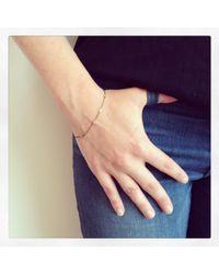 Sia Taylor | Metallic 18k Tiny Line Bracelet | Lyst