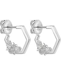 Theo Fennell | Metallic Alias Sterling Silver Humblebee Hoop Earrings | Lyst