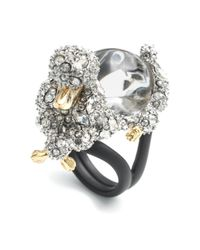 Alexis Bittar | Metallic Jelly Belly Poodle Cocktail Ring | Lyst