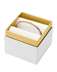 Michael Kors - Pink Hinge Bangle In Gift Box - Lyst