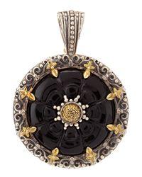 Konstantino - Metallic Carved Onyx Pendant - Lyst