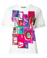 Alexander McQueen - White Logo Print T-shirt - Lyst