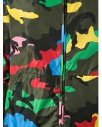 Valentino Green Camouflage Print Jacket for men