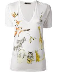 DSquared²   White Printed Tshirt   Lyst