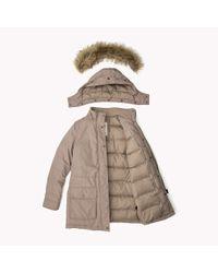 Tommy Hilfiger | Brown Down Hooded Parka | Lyst
