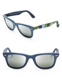Ray-Ban Blue Camo Fabric Wayfarer Sunglasses