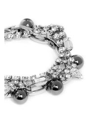 Joomi Lim | Metallic 'modern Muse' Crystal Chain Bracelet | Lyst