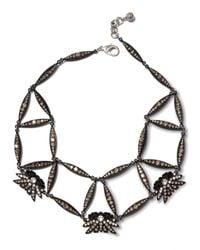 Lulu Frost | Black Larkspur Crystal Web Necklace | Lyst