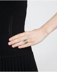 Yvonne Léon Green 18k Yellow Gold Seahorses Ring
