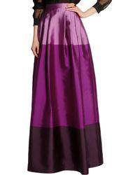 Temperley London Purple Long Freesia Satin-twill Maxi Skirt