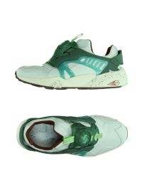 PUMA - Green Low-tops & Trainers - Lyst