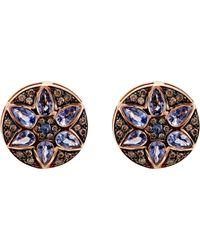 Ileana Makri - Blue Deco Flower Stud Earrings - Lyst