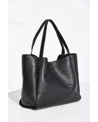 Silence + Noise Black Modern Tote Bag